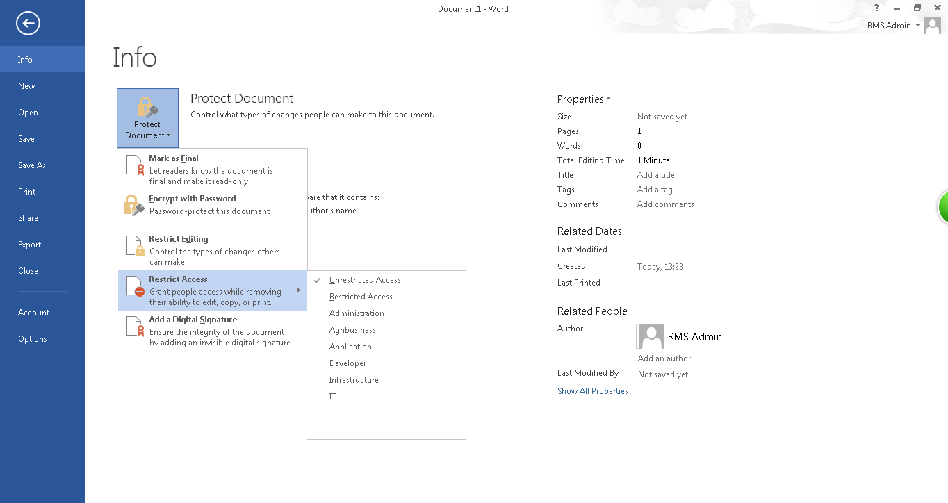 Azure Rms Why Some Users Cant Find Any Templates In Their Office